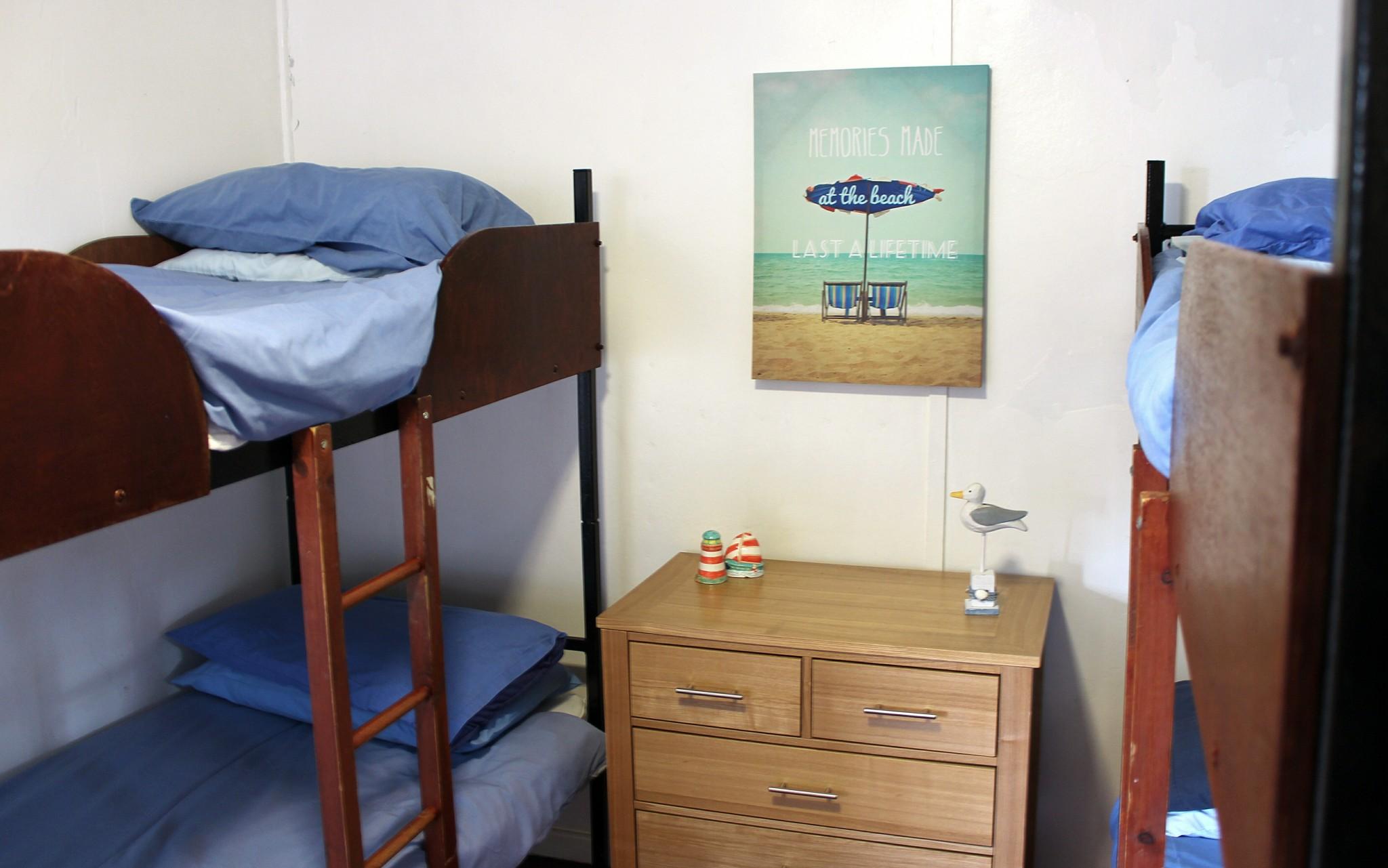 Bedroom in cosy cabin
